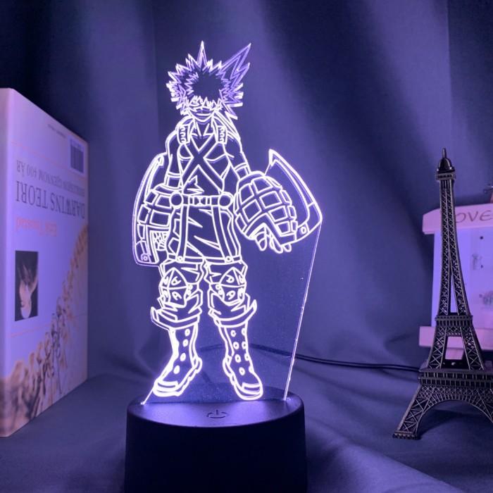 Lampe 3D My Hero Academia : Katsuki Bakugo - Armé